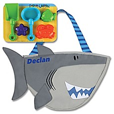 image of Stephen Joseph® Shark Beach Tote with Sand Toys