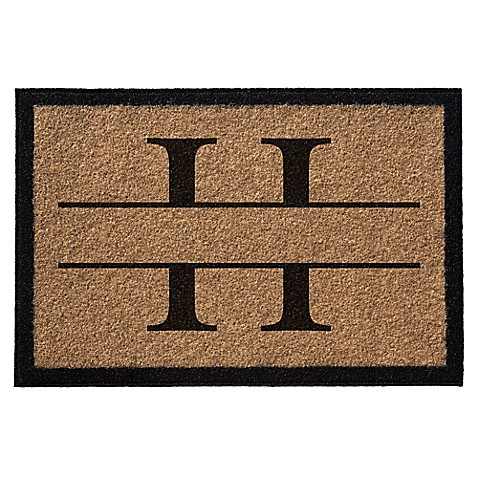 Infinity Monogram Letter Door Mat In Natural Bed Bath