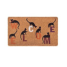 image of Fab Habitat Extra Thick Inquisitive Cat 18-Inch x 30-Inch Door Mat