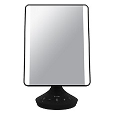 image of iHome Beauty Flat Mirror with Bluetooth Audio in Black