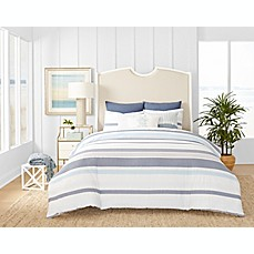 image of Coastal Living Ocean Stripe Reversible Comforter Set