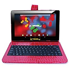 image of Linsay® 10.1-Inch 1280 x 800 IPS 16GB Tablet with Crocodile Case
