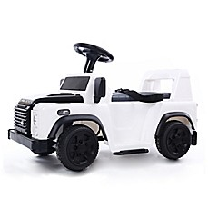 image of Land Rover 6V Ride-On in White