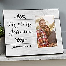 image of Farmhouse Wedding Picture Frame