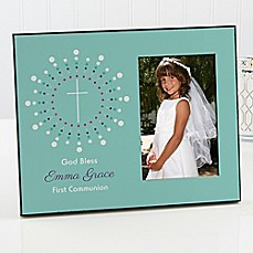 image of God Bless First Communion Picture Frame