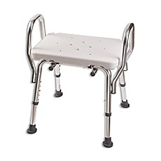 image of dmi shower bench seat with arms in white
