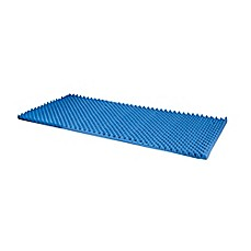 dmi convoluted foam king bed pad in blue
