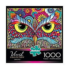image of Buffalo Games™ 1000-Piece Vivid Collection Owl Eyes Puzzle