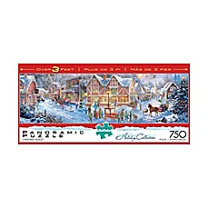 image of Buffalo Games™ 750-Piece Holiday Collection Christmas Village Panoramic Puzzle