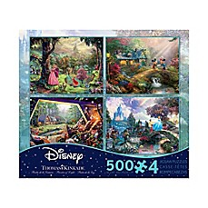 image of Ceaco Thomas Kinkade Disney Dreams 4-in-1 Jigsaw Puzzle Pack