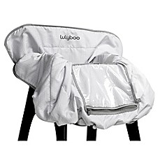 image of LulyBoo® Shopping Cart and High Chair Cover in Grey