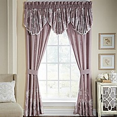 CroscillR Liliana 84 Inch Rod Pocket Window Curtain Panel Pair In Mauve