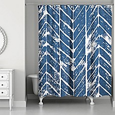 Periodic table of elements shower curtain bed bath beyond designs direct chevron stamp shower curtain in bluewhite urtaz Choice Image