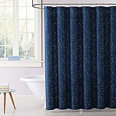image of Laura Hart Kids Night Sky Shower Curtain in Blue
