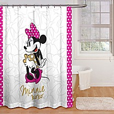 image of Minnie Mouse XOXO Shower Curtain Collection