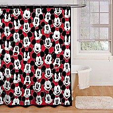 Image Of Disney® Mickey Mouse Big Face Shower Curtain Collection