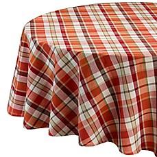 Design Imports Pumpkin Spice Plaid Tablecloth
