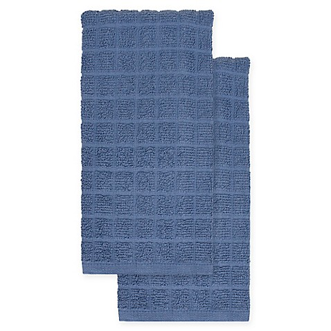KitchenSmart® Colors 2-Pack Solid Kitchen Towels in French Blue