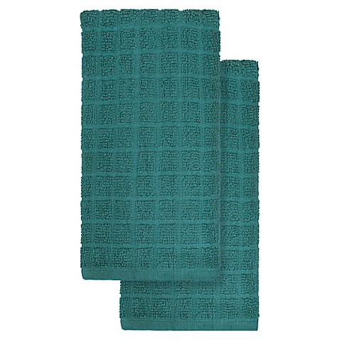 KitchenSmart® Colors 2-Pack Solid Kitchen Towels in Atlantic