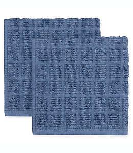 Trapos de cocina cuadrados en azul francés, Colors KitchenSmart® Paquete de 2 pzas.