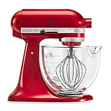 image of KitchenAid® 5-Quart Artisan® Design Series Stand Mixer with Glass Bowl in Candy Apple