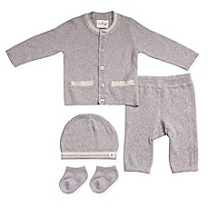 image of Cuddl Duds® 5-Piece Take Me Home Cardigan, Pant, Hat, and Sock Set in Grey
