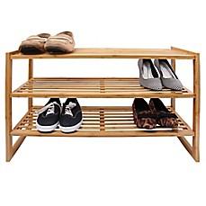 E Z Do 3 Tier Bamboo Shoe Rack In Natural