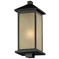 image of Filament Design Vienna 1-Light Outdoor Post Fixture in Oil-Rubbed Bronze