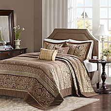 image of Madison Park Bellagio Jacquard Bedspread Set