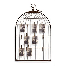 image of Creative Co-Op Birdcage Card Holder