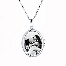 Free shipping bedding home decor kitchen products more bed image of sterling silver 18 inch chain glass ginny photo locket necklace fandeluxe Gallery