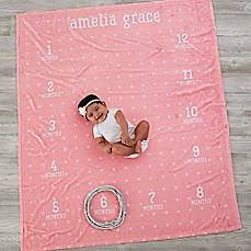 image of Monthly Milestone Baby Fleece Blanket