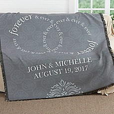 image of Forever & Ever Wedding Woven Throw