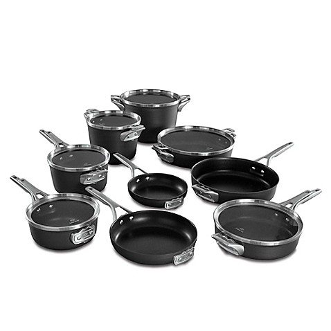 calphalon premier space saving hard anodized nonstick 15 piece cookware set and open stock. Black Bedroom Furniture Sets. Home Design Ideas