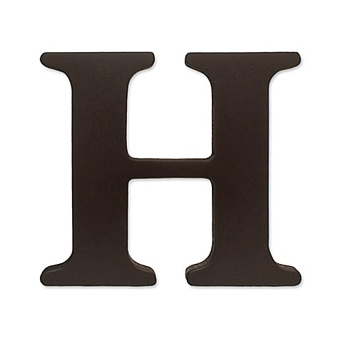 Kidsline espresso wooden letter h bed bath beyond for A bathroom item that starts with p