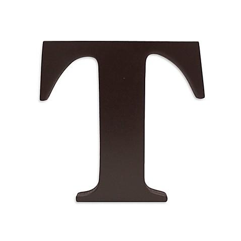 Buy KidslineTM Espresso Wooden Letter T From Bed Bath