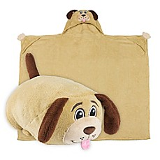 image of Comfy Critters™ Dog Wearable Stuffed Animal in Tan