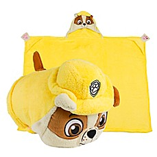 image of Comfy Critters™ PAW™ Patrol Rubble Wearable Stuffed Animal in Yellow