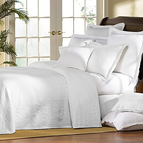 Amazing Williamsburg William And Mary White Matelasse Bedspread, 100% Cotton