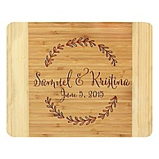 image of Stamp Out Branch Wreath 11-Inch x 14-Inch Bamboo Cutting Board