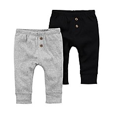image of carter's® 2-Pack Pant in Grey/Black
