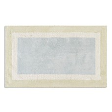 image of Madison Park Cotton Tufted Aqua Bath Rug Collection