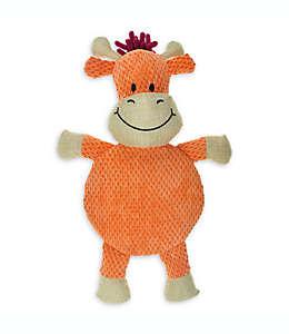 Vaca de estopa con silbato Bounce & Pounce para perro en naranja