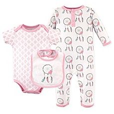 Layette preemie 24m buybuy baby image of hudson baby 3 piece dreamcatcher coverall bodysuit and bib set negle Choice Image