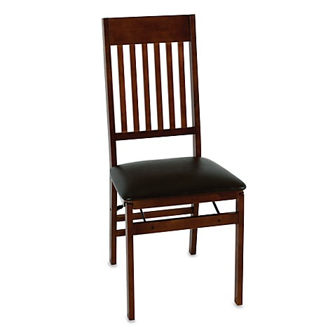 Cosco Wood Folding Chair With Walnut Finish Bed Bath