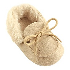 image of Luvable Friends® Cozy Moccasin Slipper in Beige