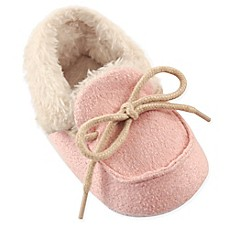 image of Luvable Friends® Cozy Moccasin Slipper in Pink