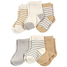 image of Touched by Nature 6-Pack Socks in Neutral