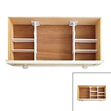 image of Real Simple® 6-Piece Adjustable Drawer Organizer
