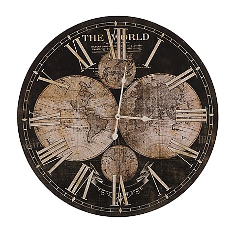 Yosemite home decor ancient world map wall clock in brownbeige yosemite home decor ancient world map wall clock in brownbeige gumiabroncs Gallery